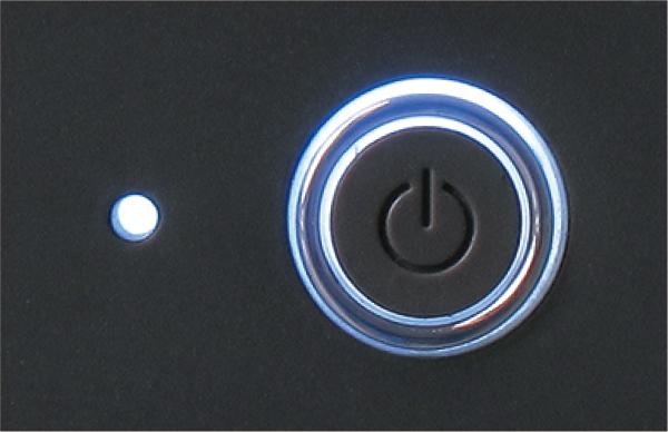 電源スイッチ、Power LED