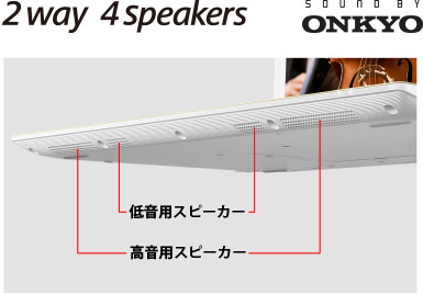 2way 4speakers SOUND BY ONKYO