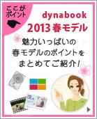 ここがポイント!dynabook 2013春モデル